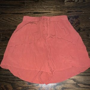 Lace up flowy shorts